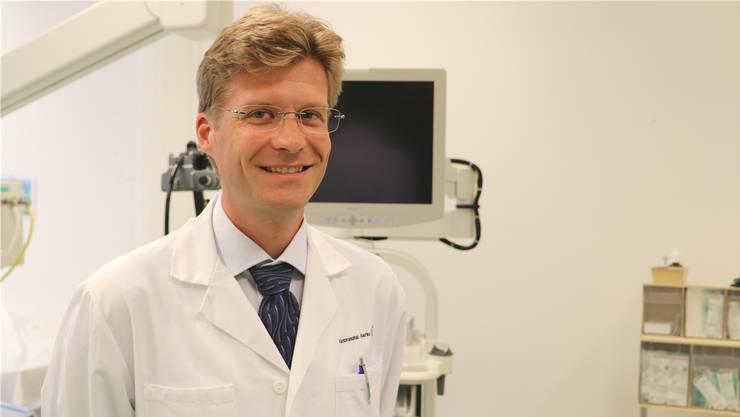 Thomas Kuntzen ist seit letzter Woche Chefarzt der Gastroenterologie und Hepatologie am Kantonsspital Aarau.