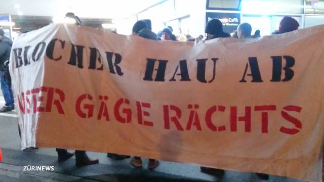Anti-Blocher-Demo in Uster