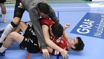 Wird der HSC Suhr nach dem erfolgreichen Auftaktsieg auch die zweite Finalrundenpartie für sich entscheiden?