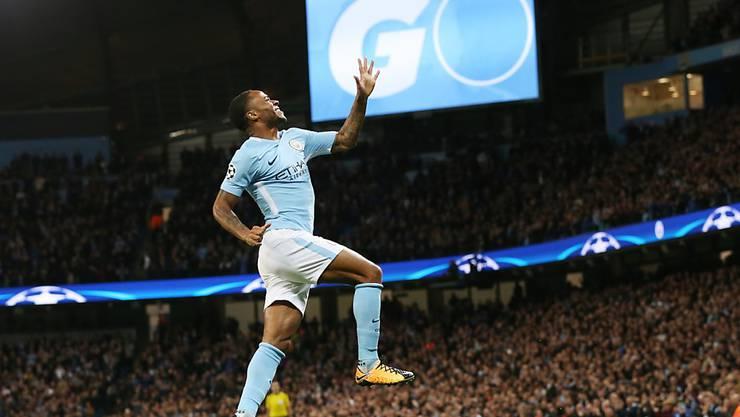 Citys Höhenflug hält an: Raheem Sterling bringt Manchester City gegen Napoli mit dem 1:0 in der 9. Minute früh auf Kurs