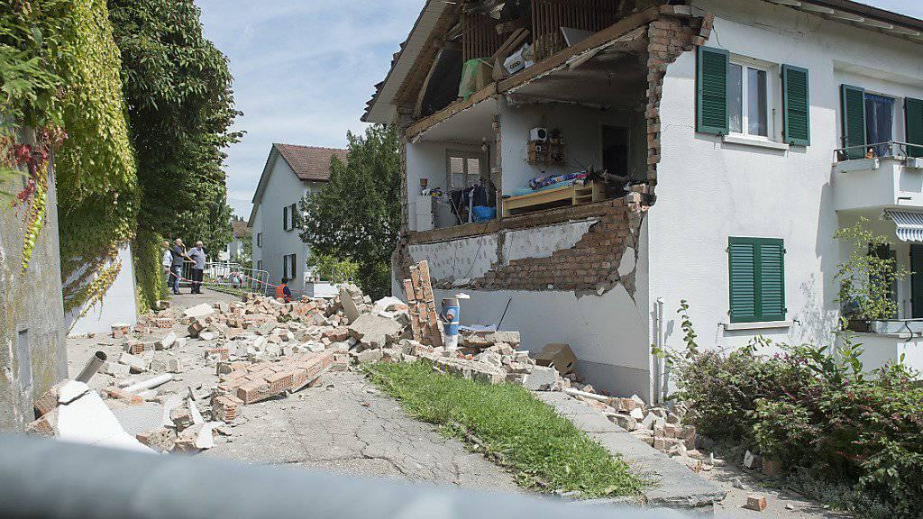 So sah das Bieler Haus nach der Explosion von August 2010 aus. (Archivbild)