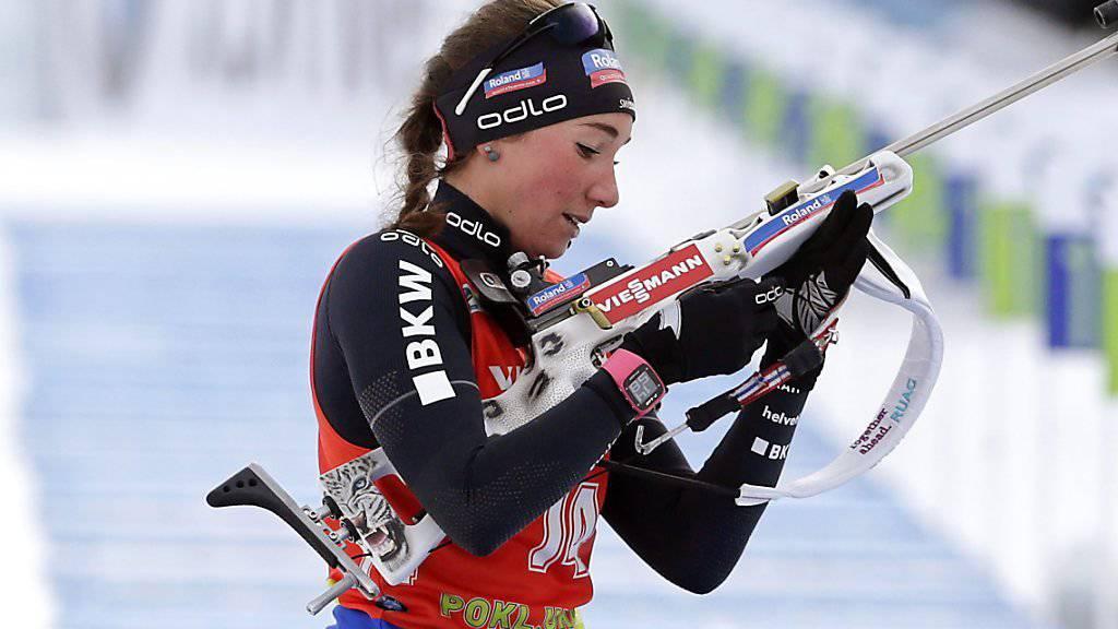 Aita Gasparin - im Bild im Dezember im slowenischen Pokljuka - und ihre Teamkolleginnen kamen im Staffel-Wettkampf von Ruhpolding nicht so recht auf Touren