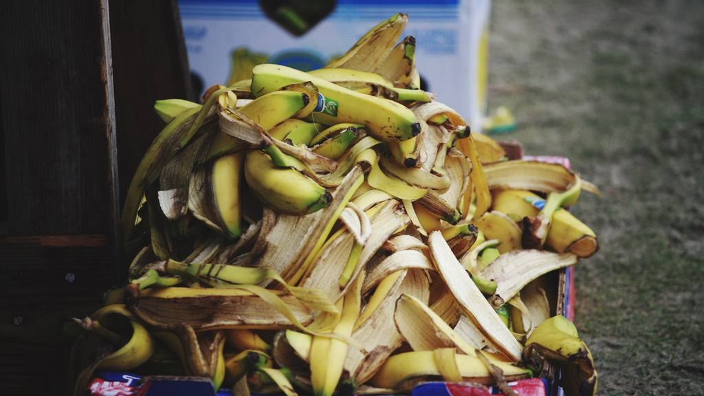 Bananenschalen essen? Das geht!