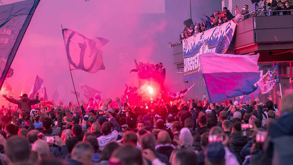 Der FCL präsentiert sich trotz Corona 10'000 Fans. Dies hat möglicherweise ein juristisches Nachspiel. (Archivaufnahme)