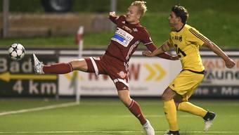 Cedric Franek (links) will mit dem FC Baden die Auswärtssiegesserie weiterziehen.