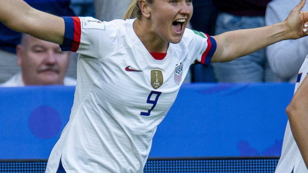 Hoch überlegen: Lindsey Horan brachte die USA gegen Schweden in Führung