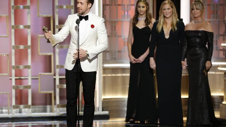 """Ryan Gosling holte einen Golden Globe als bester Hauptdarsteller für seine Rolle im Musical """"La La Land""""."""