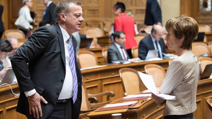 Sie sind zwei der insgesamt 31 Nationalräte der neuen «Mitte-Fraktion»: BDP-Präsident Martin Landolt und CVP-Nationalrätin Ruth Humbel.