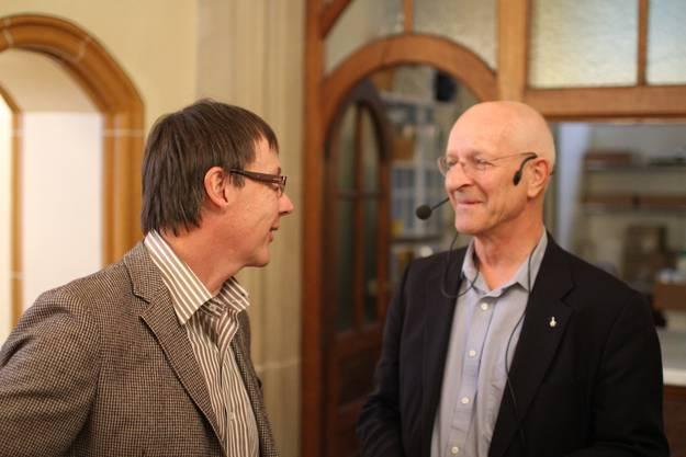 Tourismusdirektor Jürgen Hofer im Small-Talk mit dem prominenten Gast