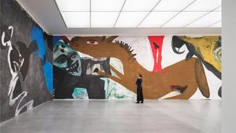 140 Meter Liebe: Das Bündner Kunstmuseum macht Platz für Martin Dislers monumentales Panorama «Die Umgebung der Liebe». Das Werk wurde 1987 ein letztes Mal öffentlich präsentiert.Ralph Feiner