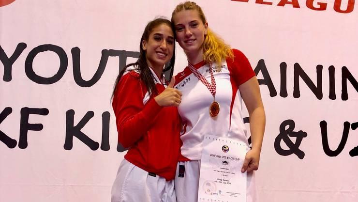 Erfolgreich: Mia Kadoic (rechts) und Nur Kars.