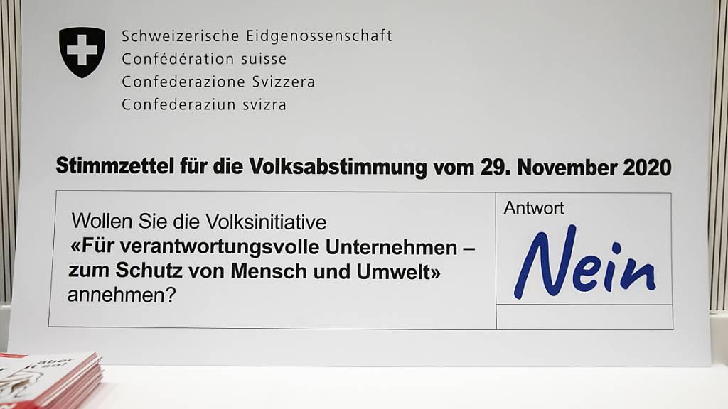 Ein breit abgestütztes Wirtschaftskomitee wirbt für ein Nein zur Konzernverantwortungsinitiative. Die Initiative schadet aus Sicht von Economiesuisse und Co. dem Standort Schweiz. (Archivbild)