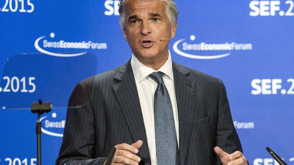 Sehr zufrieden mit den 1,2 Milliarden Reingewinn: UBS-CEO Sergio Ermotti (Archivbild)