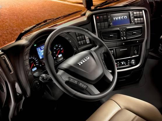 Fast wie in einem Auto - der Innenraum des neuen Iveco.