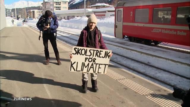 WEF: Nach 30 Stunden Zugfahrt kommt Greta Thunberg in Davos an