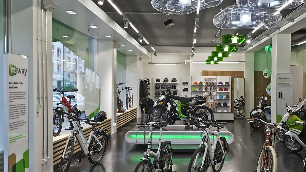 Die E-Bike-Läden unter der Marke M-Way gehören neu nicht mehr zur Migros, sondern zur Swiss E-Mobility Group. (Archiv)