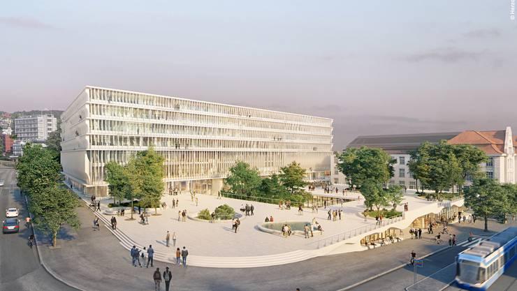 Den Verantwortlichen des Baus des neuen Zürcher Hochschulgebietes ist die Gestaltung der Räume zwischen den Gebäuden ein Anliegen.
