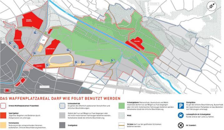 Seit 2016 regelt die neue Benutzerordnung des Bundes das Leben auf dem Frauenfelder Waffenplatz.