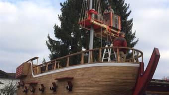 12 Meter lang und 13 Meter hoch: Galeone der Fasnachtsgruppe Reederei AG. zvg