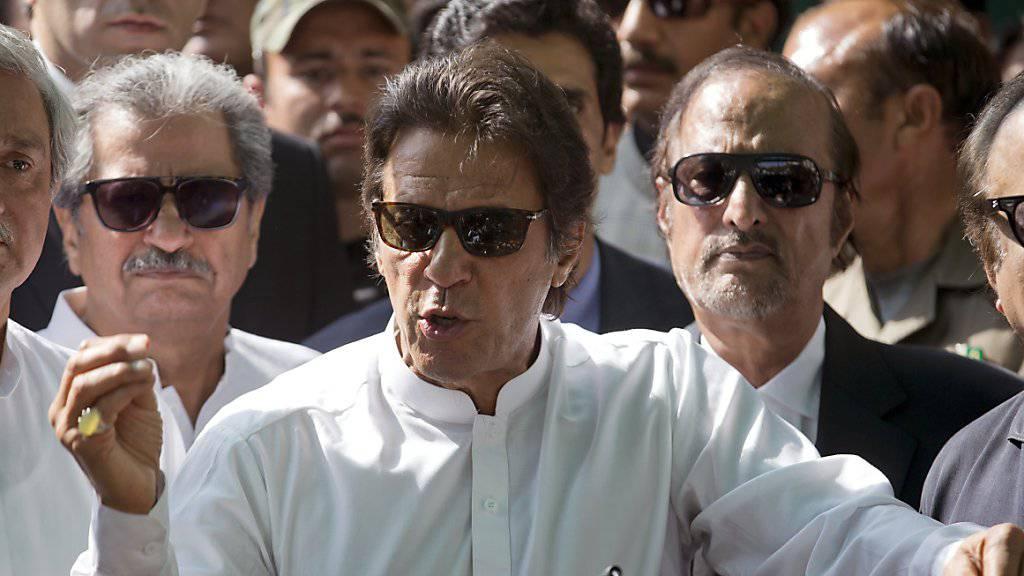 Der pakistanische Oppositionsführer Imran Khan. (Archiv)