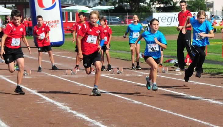 Start zu den Rennen über 60 Meter