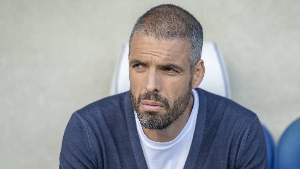 Fabio Celestini strebt mit seinem Team einen Sieg in Sitten an