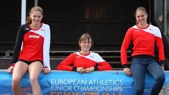 Salome Lang (links) und Pascale Stöcklin (mitte) konnten bei den Einkampfmeisterschaften in Riehen begeistern. (Archiv)