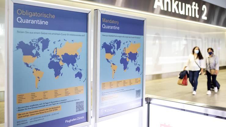 Für viele Reisende ist die drohende Quarantäne ein Grund, ihre Ferien in einem Risikoland zu stornieren.