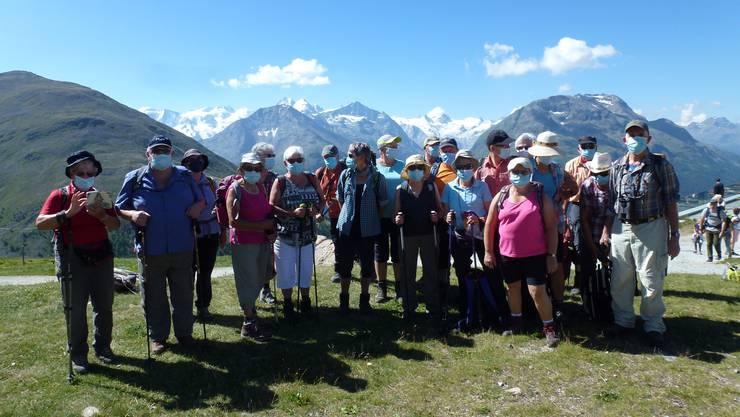 Gruppenfoto auf dem Muottas Muragel