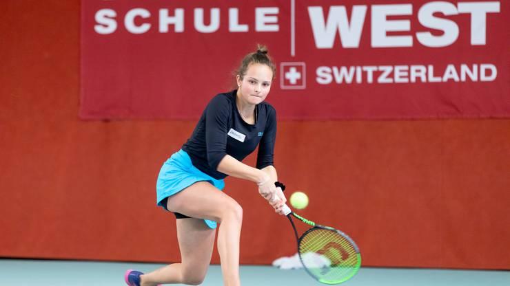 Alina Granwehr aus Will, Finalistin Girls U18 an der AKB Swiss Junior Trophy.