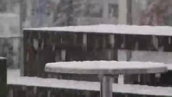 Im Aargau hat es zum ersten Mal in diesem Winter richtig geschneit. Bilder aus der Aarauer Telli und der Brugger Altstadt.