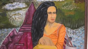 Gemälde von Max Kaiser (Teilansicht).