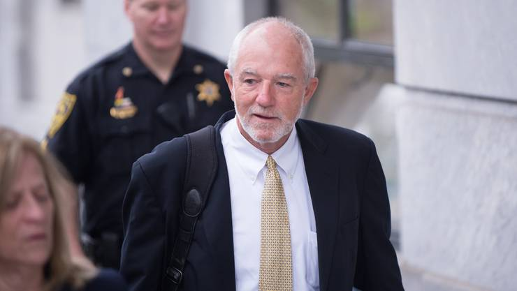 epa07043205 Attorney Joseph P. Green, Jr. (R), arrives at the Montgomery County Courthouse in Norristown, Pennsylvania, USA, 24 September 2018 ahead of the sentencing hearing for US entertainer Bill Cosby. Cosby was found guilty on three counts of sexual assault against Andrea Constand in 2004. EPA/TRACIE VAN AUKEN
