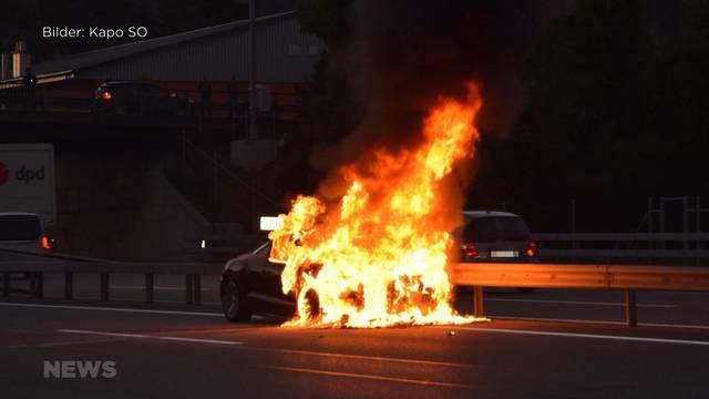 Autobrand auf der A1