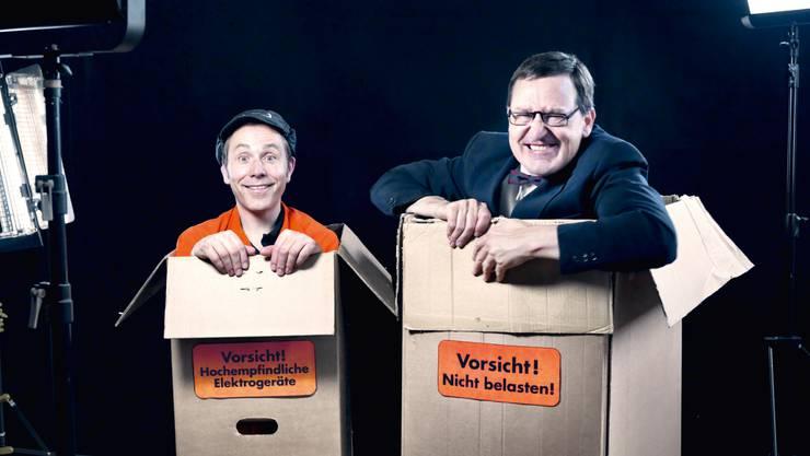 Stadtfest-Künstler: Das Limmattaler Komiker-Duo Lapsus ist in diesem Jahr für den Schweizer Kleinkunstpreis nominiert.