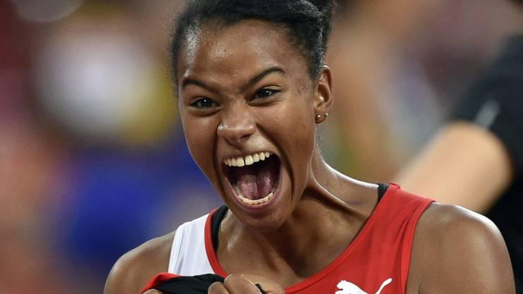 Viel Grund zur Freude: Caroline Agnou liess der Konkurrenz im Siebenkampf an der U23-EM keine Chance
