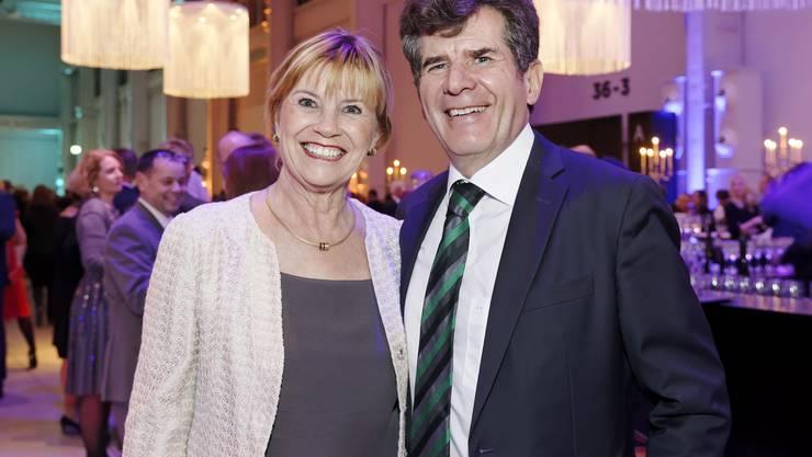 Peter Fröhlich, Geschäftsführer AGV Aargauischer Gewerbeverband und seine Frau Beatrice.