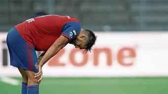 Basels Omar Alderete, enttäuscht nach der Niederlage im Cupfinal.