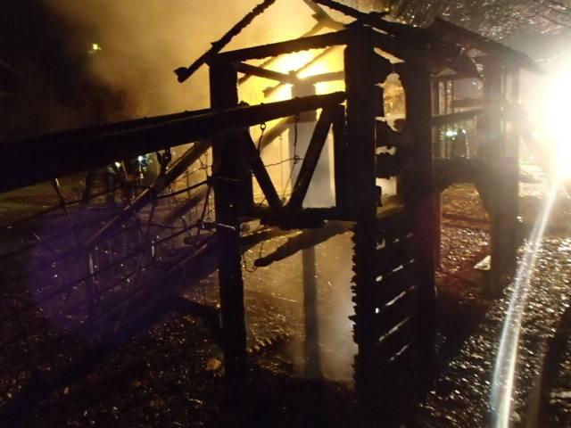 Spielplatzbrand in Oberrohrdorf
