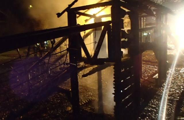 Der Spielturm ist in Oberrohrdorf abgebrannt.