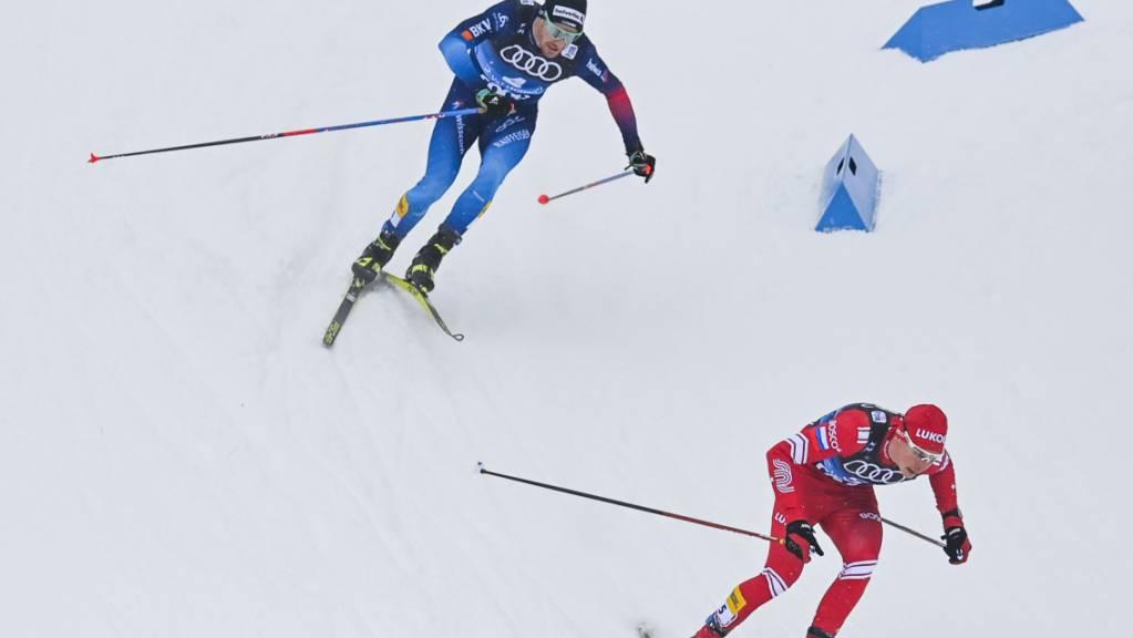 Dario Cologna kann in der 4. Etappe den Russen nicht folgen.  (Archivaufnahme)