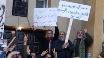 Erste Bilder von regierungskritischen Demonstranten aus Benghasi