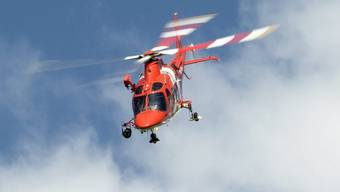 Rega-Helikopter im Einsatz (Archiv)