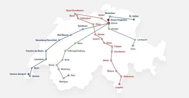 Das Streckennetz vor dem Umbau und...