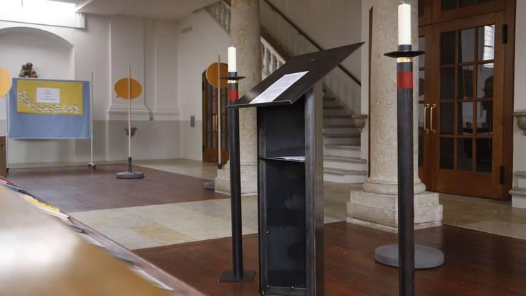 So könnte der neue Altarraum aussehen: In der Eusebiuskirche ist schon einmal der Ambo zu sehen.