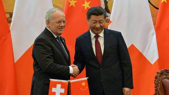Chinas Präsident Xi Jinping empfängt Bundespräsident Johann Schneider-Ammann