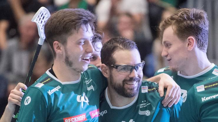 Unihockey Saison 2018/19, der SV Wiler-Ersigen gewinnt zum Auftakt auswärts bein den Grasshoppres.