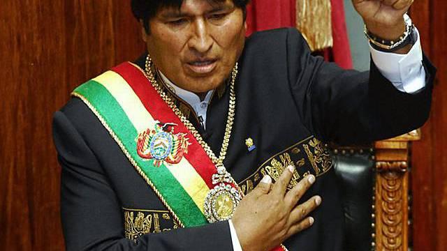 Evo Morales wird für eine zweite Amtszeit vereidigt