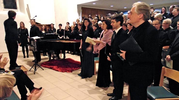 Rund 80 Sänger zählt der von Dieter Wagner geleitete Projektchor.