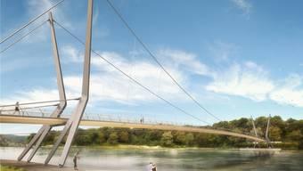 In wenigen Monaten beginnen die Bauarbeiten des neuen Rheinstegs. zvg